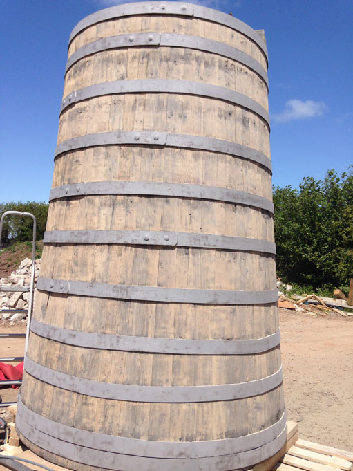 Thatchers Cider Brewing Vats After Blast Cleaning