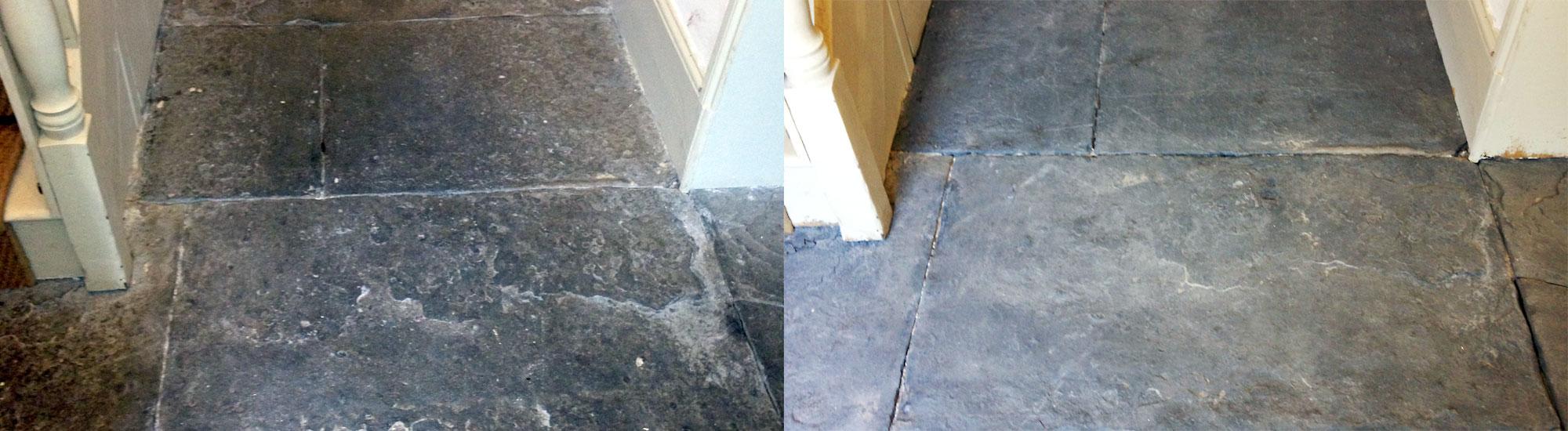 Flagstone Floor Sandblasting