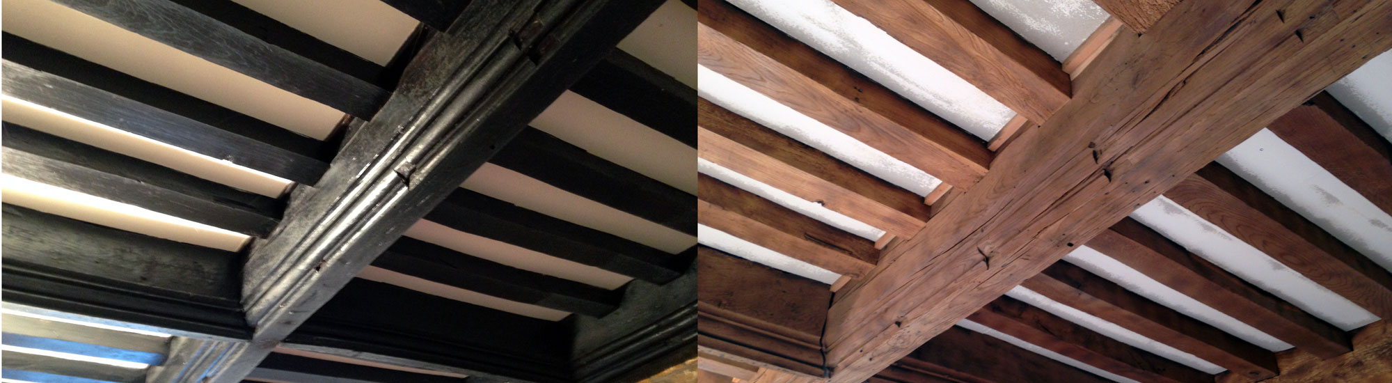 Oak Beam Blast Cleaning Restoration