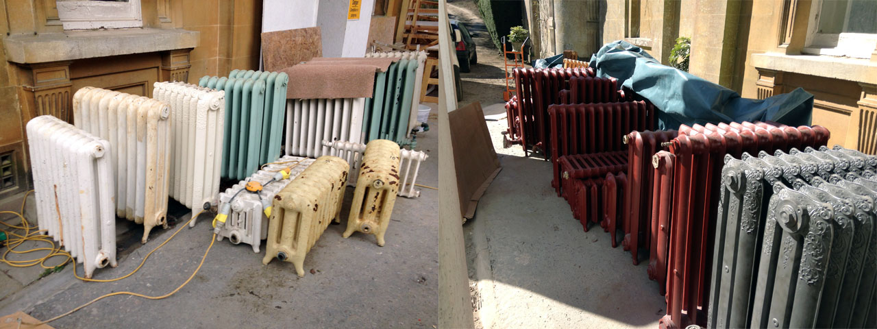 Cast Iron Radiator Sandblasting
