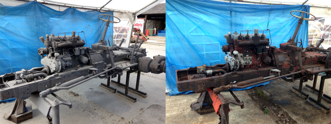 Tractor Sandblasting Restoration