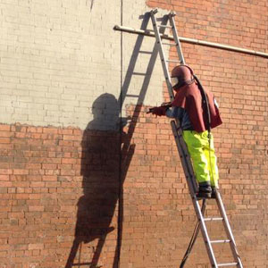 Paint Removal Using Brick Blast Cleaning