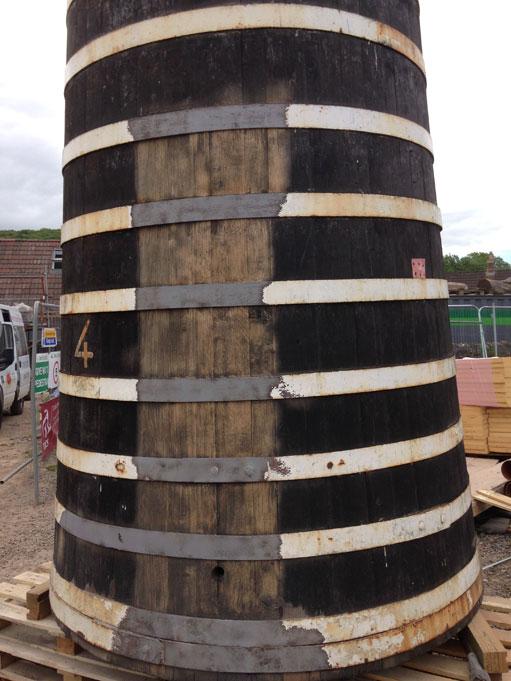 Thatchers Cider Brewing Vats Blast Cleaning Restoration