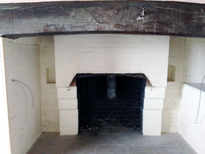 Fireplace Sandblasting Paint Removal