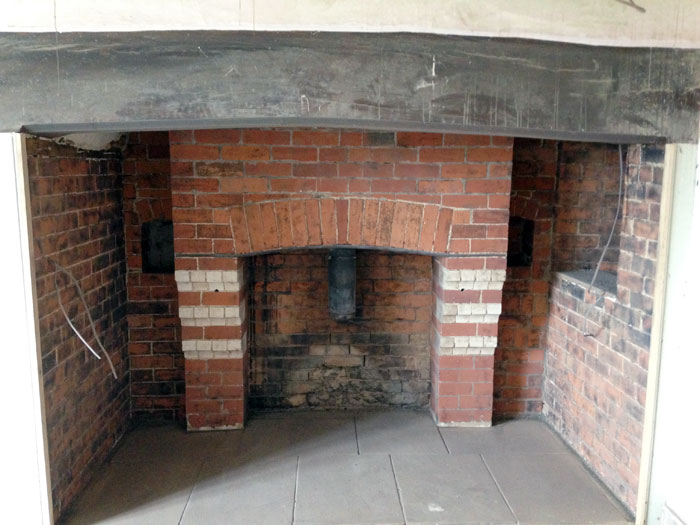 Fireplace Sandblasting Restoration