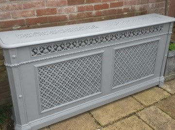 Metal Radiator Cover After Sandblasting