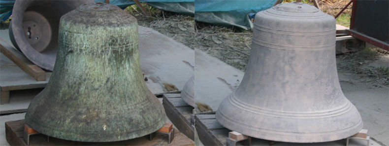 Metal Bell Sandblasting