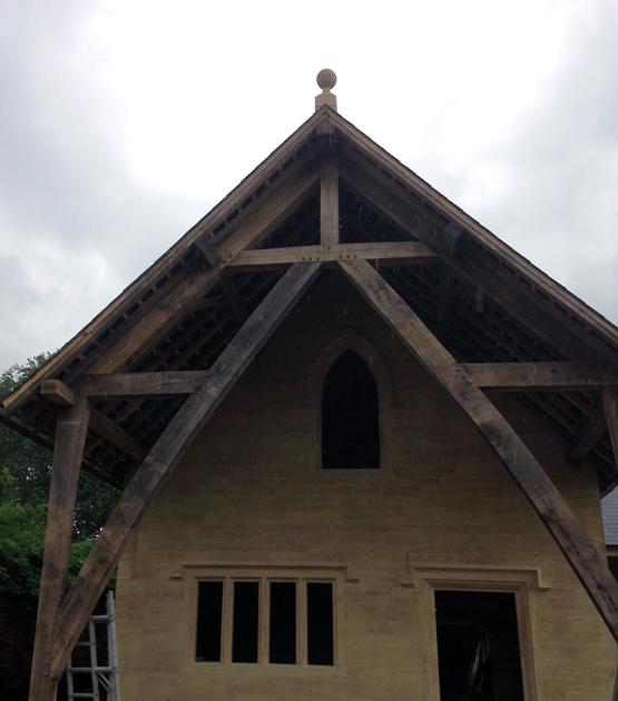 Oak Frame Blast Cleaning Restoration