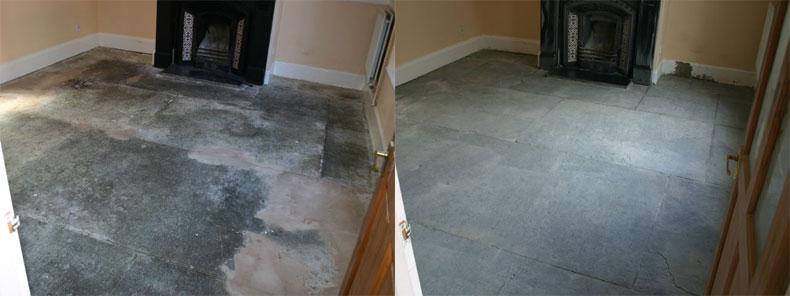 Sandblasting Stone Floor