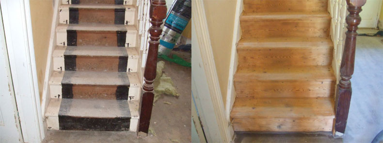 Staircase Soft Blast Cleaning